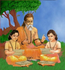 hindu guru with disciples