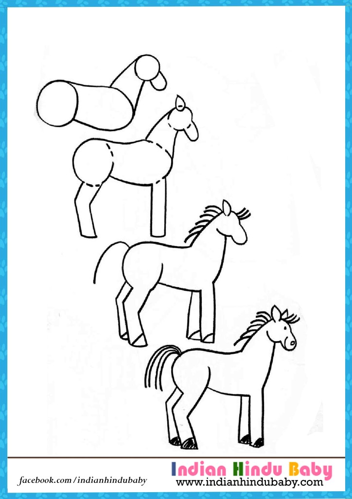 Horses drawings step by step