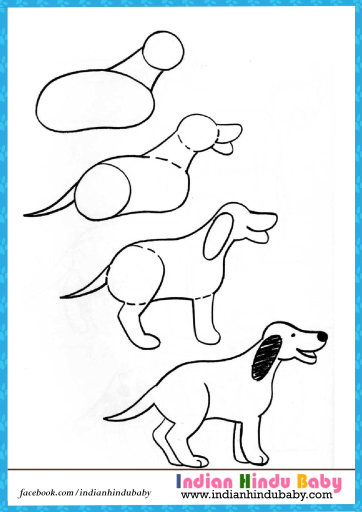 Drawing Dogs Step By Step Pictures to Pin on Pinterest ...
