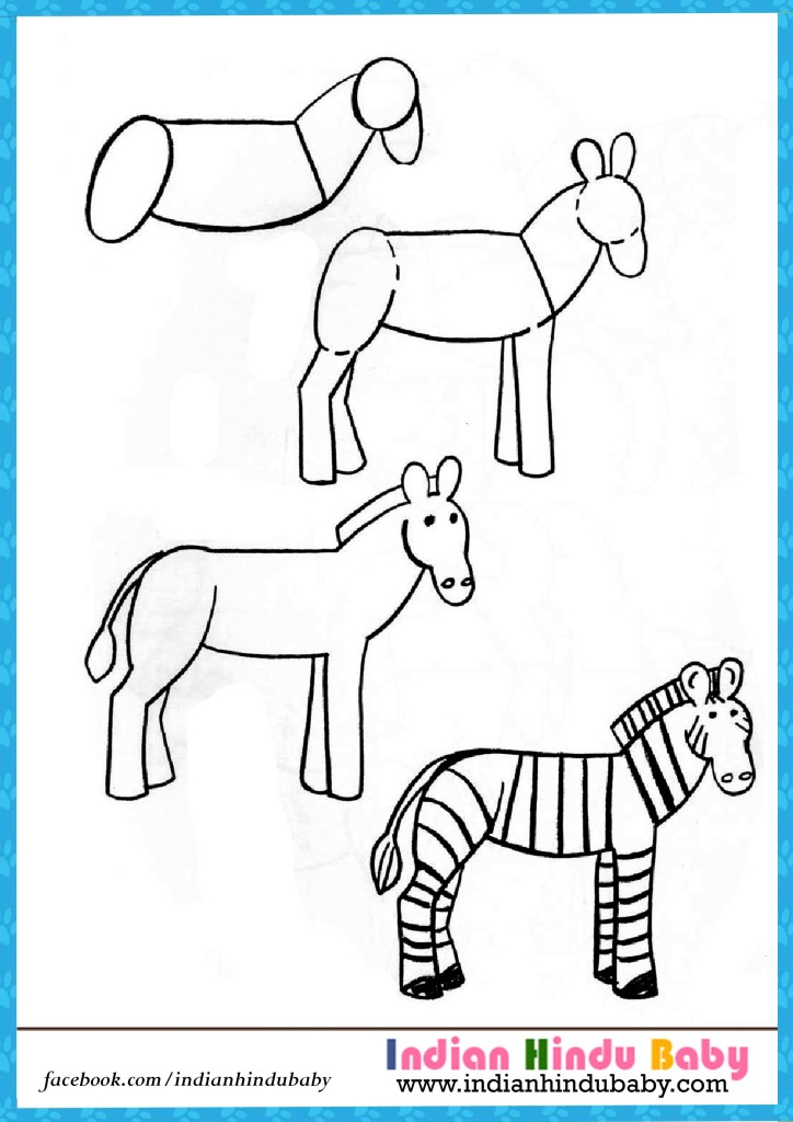 Zebra Step By Drawing For Kids